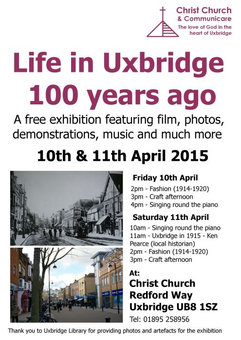 Life in Uxbridge 100 years ago exhibition