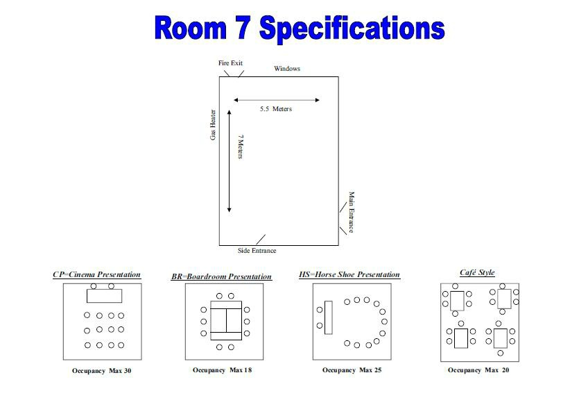 Room 7 specifications - rooms avaiable for hire at Christ Church, Uxbridge