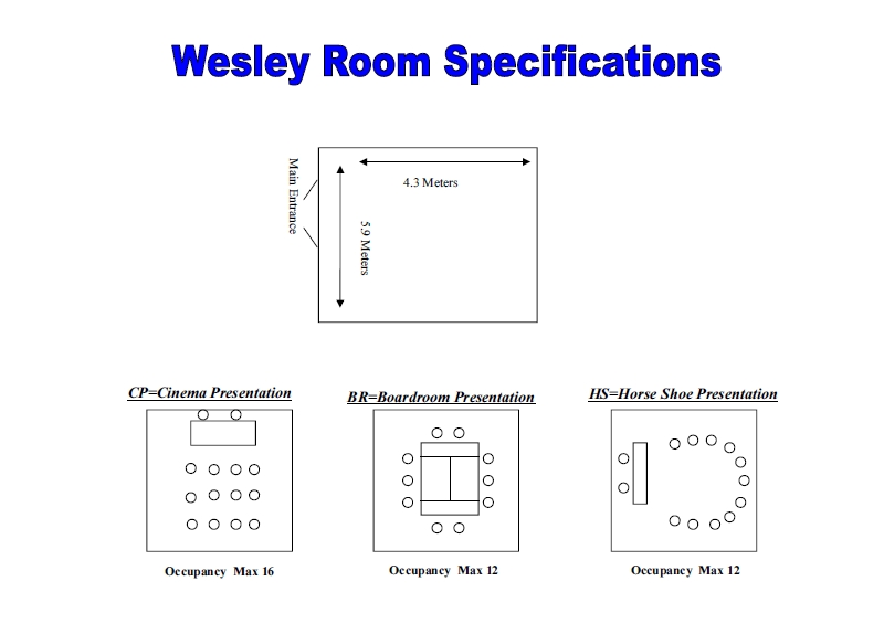 Wesley Room - rooms for hire - Christ Church, Uxbridge