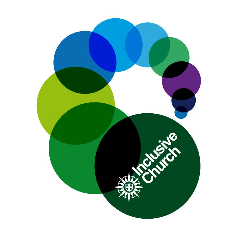 Inclusive Church logo of ten overlapping dots