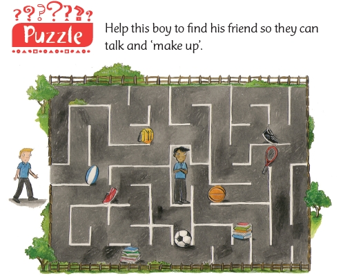 A maze puzzle from the Roots children's sheet for this week