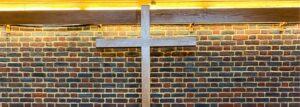 The cross inside the chapel