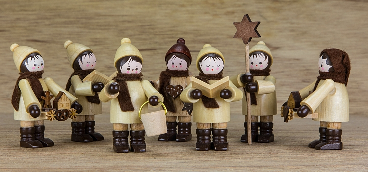 Figures of carol singers