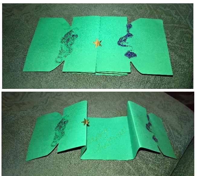 A Christmas cracker card