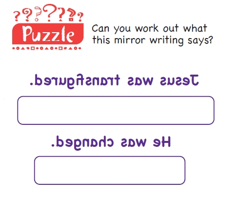 A mirror writing puzzle
