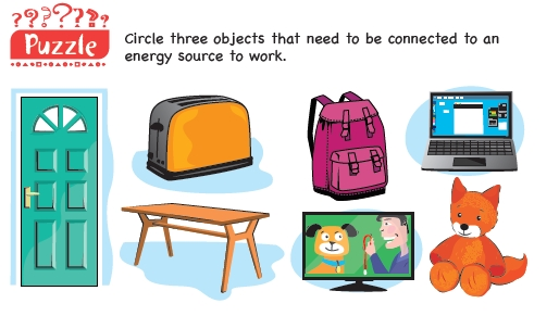 A 'circle the object' puzzle