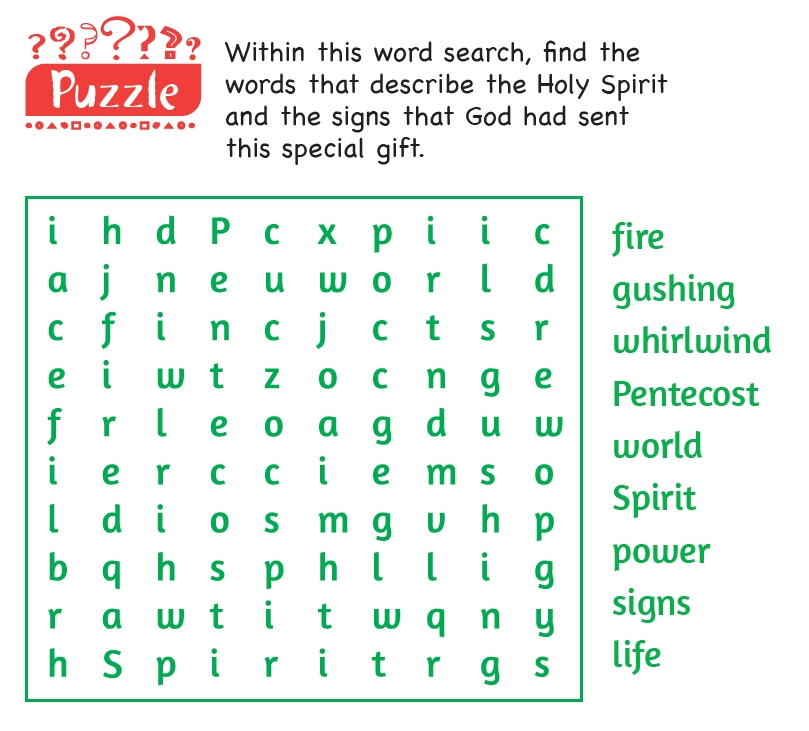 A wordsearch puzzle