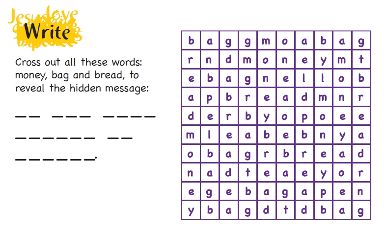 A puzzle to remove certain letters and see what words are left