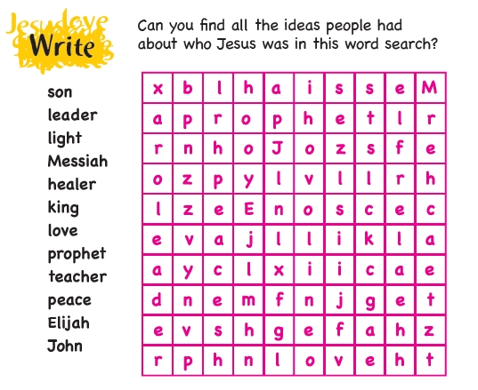 A word search puzzle